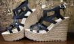 Ηandmade leather platforms in modern design by So What! | Leather Accessories