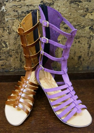 Handmade leather gladiator sandals with anatomic gel technology for additional comfort. Available in various colours by So What! | Leather Accessories