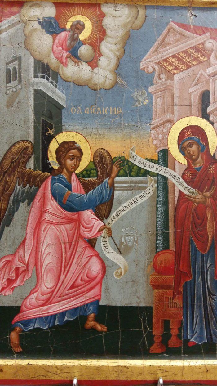Orfeus χειροποίητη αγιογραφία, Ευαγγελισμός της Θεοτόκου.