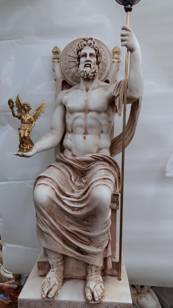 άγαλμα του Δία από αλαβαστρο